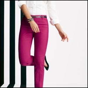 WHBM Hot Pink Perfect Form Slim Ankle City Pant